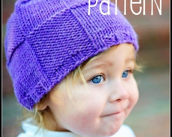make your own Checkered Texture Topper (DIGITAL KNITTING PATTERN) newborn baby toddler child