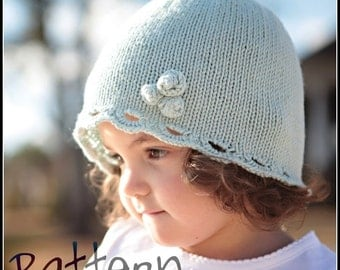 make your own Rosy Scalloped Hat (DIGITAL KNITTING PATTERN) preemie, newborn, infant, toddler, child, adult