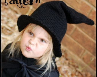 make your own Bewitched Hat (DIGITAL KNITTING PATTERN) baby toddler child adult