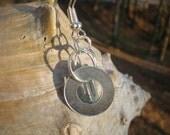 Simple washer earrings, washer earrings, hardware earrings, industrial earrings