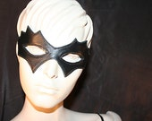 Diabolique Leather Mask in Black, Red, White, Blue or Goldenrod