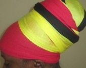 Dread Locs Headwrap - Stretch Headwrap-Headdress-Turban- SKU: WWJ77