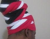 Trini Headwrap - Women Head Covering-Turban-Boho- Stretch Headwrap- Headdress- SKU: WWJ006