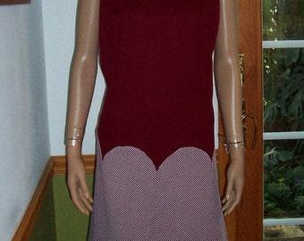 Womens  Dress- 60s Mod Polyester Shift Houndstooth  Working Womens dress