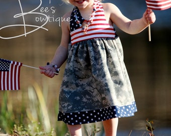 """Girls Dress Pattern, PDF Sewing Pattern, Easy Sewing PDF Patterns for Beginners, 12m-5t, """"The Avery Dress"""""""