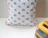 Little Machines Throw Pillow / Scatter Cushion