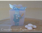 PRB26 Favors Delight Box Template SVG / Printable PDF Outline - Tapered Box w/ heart handles - PR
