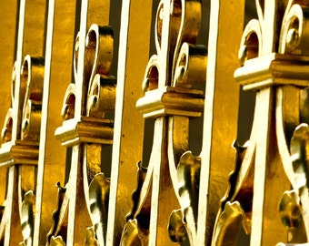 Paris Photograph Marie Antoinette Abstract French Architecture Gold Gates Home Decor in the Palace of Versailles in France Travel Art Print