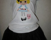 Lalaloopsy Alice Wonderland Doll Embroidered Onesie or Shirt or dress