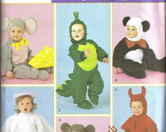 Simplicity 4002 Toddlers Kids Costumes Sewing Pattern Bear Panda Dragon Angel Mouse Devil (1/2-4) NEW UNCUT - OOP (formerly Pattern 3599)