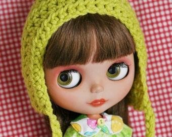 Gnome Helmet for Blythe - Lime Pixie Hat