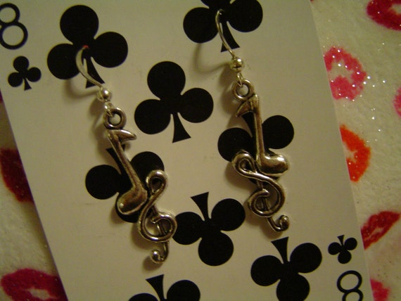 Treble Clefs (Earrings or Necklace)