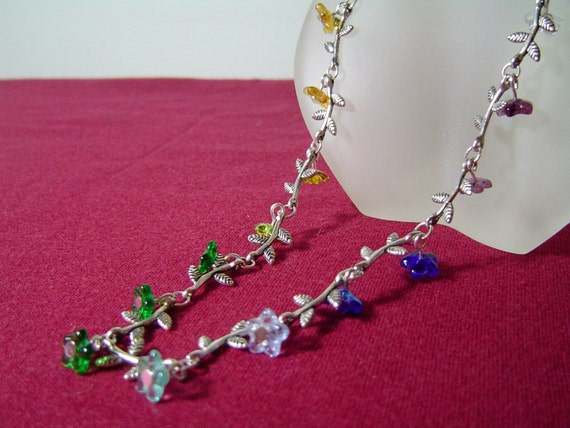 Spring Flowers (Necklace/Wrap Bracelet)