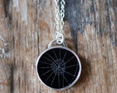 Dollybird Preserved Spider Web Pendant 1 inch