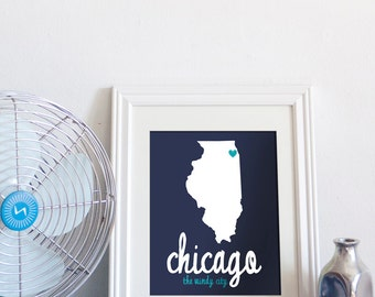 Chicago, The Windy City // 8x10 Digital Print