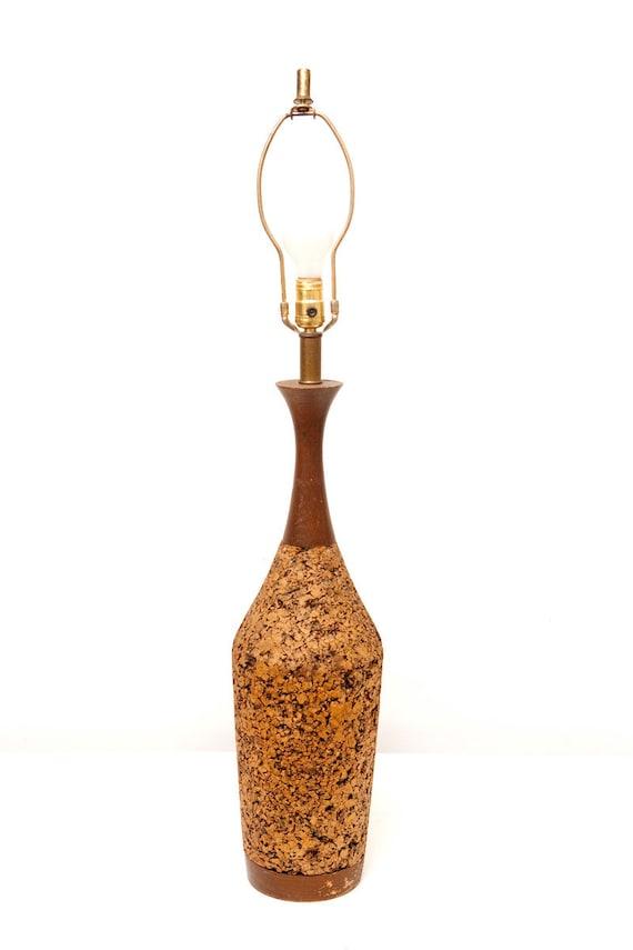 Mid Century Modern Cork Lamp