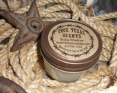Tres Leches Cake  4 oz western Texas Cowboy mason jar candle