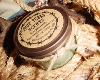 Christmas Thyme - 4 oz Western Cowboy jar candle