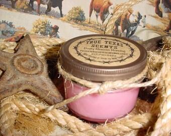 Rhinestone Cowgirl - (Pink Sugar) 4 oz western cowboy jar candle