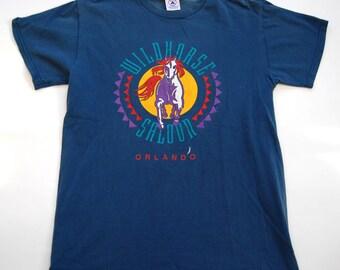 Wildhorse Salon Vintage TShirt Orlando Florida Fl Blue MEDIUM