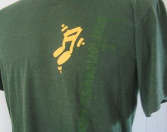 Super Soft n Thin Green Jerzees Tshirt Burton Music Camp WA Faded Green LARGE