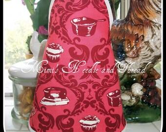 Retro Liquid Soap Bottle Handmade Apron, dish soap, retro kitchen, kitchen decor, mini apron