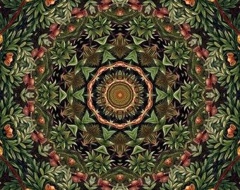 Digital Download  Forest Memories Red Green You Print Digital Scrapbook Paper Fabric Design