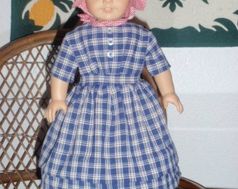 1850s Trail Traveling Prairie Dress for American Girl Kirsten or other 18 inch doll