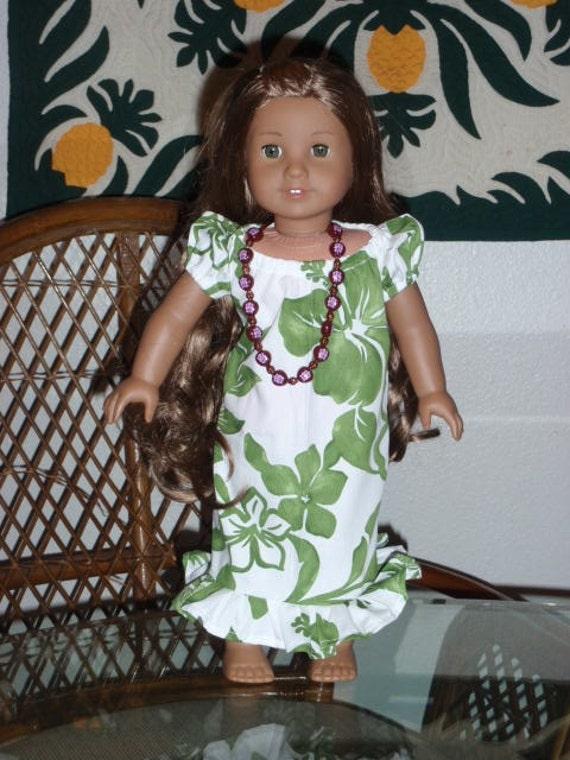 Traditional Hawaiian Mu'u Mu'u for your American Girl Kanani or other 18 inch doll