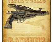 Steampunk Vintage Ad Series - Raygun - Art Print by Brian Giberson
