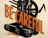 Steampunk Art Print Dangerous Machine Wall Decor