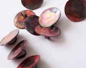 Set of ten hand-crafted copper buttons - 1.5 cm/ 0.6 inch - reserved for Kathryn