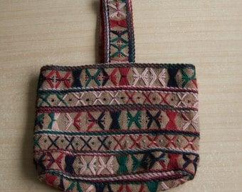 Tribal Embroidered Bag / Vintage