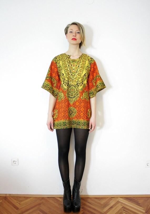 Vintage ethnic tunic dres / size S