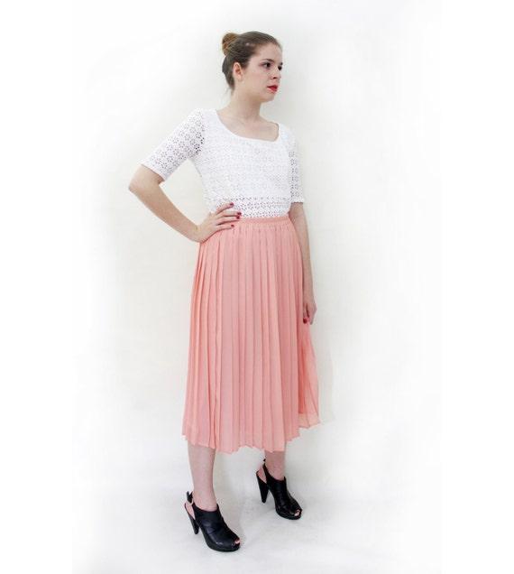 Vintage pastel pleated skirt / size L