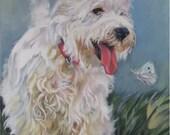 West Highland Terrier westie art print CANVAS print of LA Shepard painting 8x10 dog art