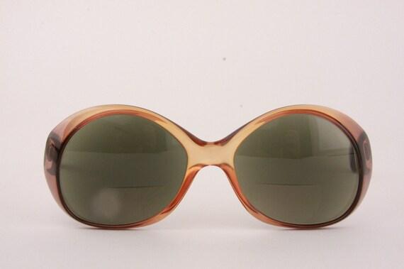 Vintage 60s Mod Spy Sunglasses Playboy Frames Eyewear Smokey Brown