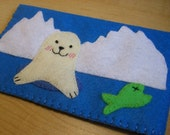 iphone case - cell phone case - ipod touch case - ipod case - Handmade Baby seal case
