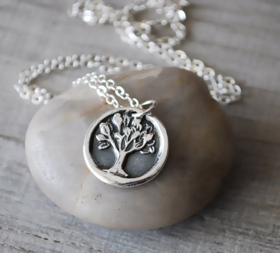 Silver Tree of Life Necklace -  Sterling Silver Chain - .999 Fine Silver Tree Charm - Handcrafted Artisan Jewelry