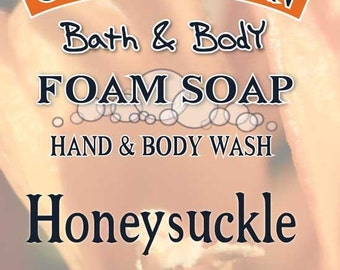 5 oz  HONEYSUCKLE Foaming Hand Soap & Body Wash
