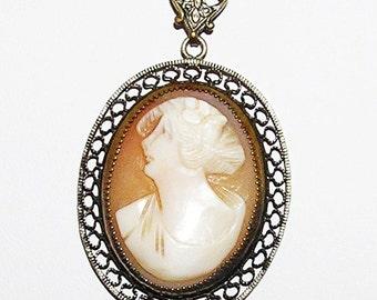 Victorian Italian Cameo Necklace c.1900