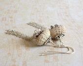 Sea Urchin Shell Earrings / Sterling Silver Waterfall Earrings / Natural Urchin Shell Earrings - Shelter