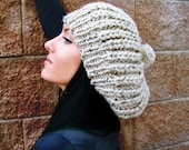 Womens Slouchy Hat, Womens Slouchy Beanie, Oversized Hat, Womens Slouch Hat, Womens Slouch Beanie, Knit Slouchy Hat, Chunky Knit Hat