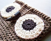 Owl iPad Case, Crochet Owl Purse, Owl Cozy, Crochet Tablet Case, Rustic Owl, iPad Cover, Owl Crochet, iPad Sleeve Tablet Cover Tablet Sleeve
