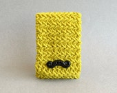 Mustache Phone Case - iPhone 5 Case in Chartreuse Green - Mustache Phone Cover - Android Case - Android Cover Spring Yellow Chevron Bright
