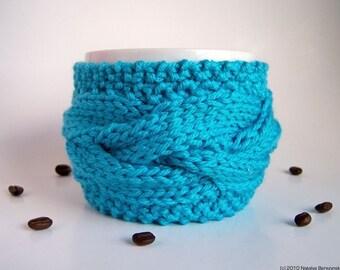 Coffee Mug Cozy, Tea Cozy, Coffee Cup Cozy, Knit Coffee Cozy, Chunky Knit Coffee Sleeve, Cup Warmer, Coffee Cup Sleeve, Tea Cup Cozy