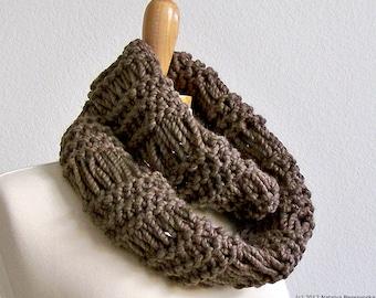 Knit Infinity Scarf Knit Mens Infinity Scarf Chunky Scarf Knit Cowl Scarf Mens Scarf Chunky Knit Scarf Men Mens Cowl Scarf Winter Scarf