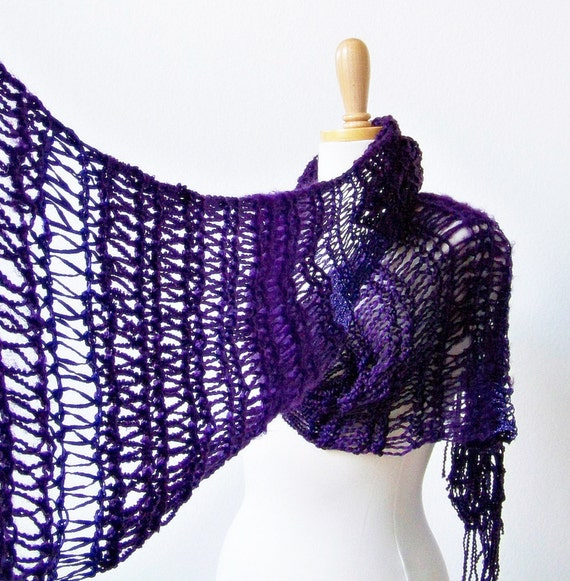 Knitting Patterns For Women s Scarf : Knitting PATTERN Knit Scarf Pattern Fashion Scarf Pattern