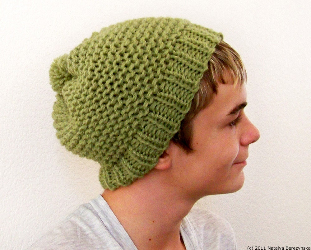 Mens Slouchy Beanie Knitting Pattern : Request a custom order and have something made just for you.