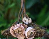 Flower Girl Basket Rustic Wedding Shabby Chic (item B10100)